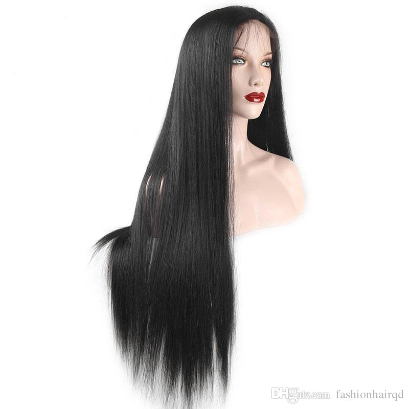 Glueless Full Lace Wigs With Baby Hair Cheap Straight Human Hair Lace Front Wigs For Black Women Brazilian Virgin Hair Natural Hairline
