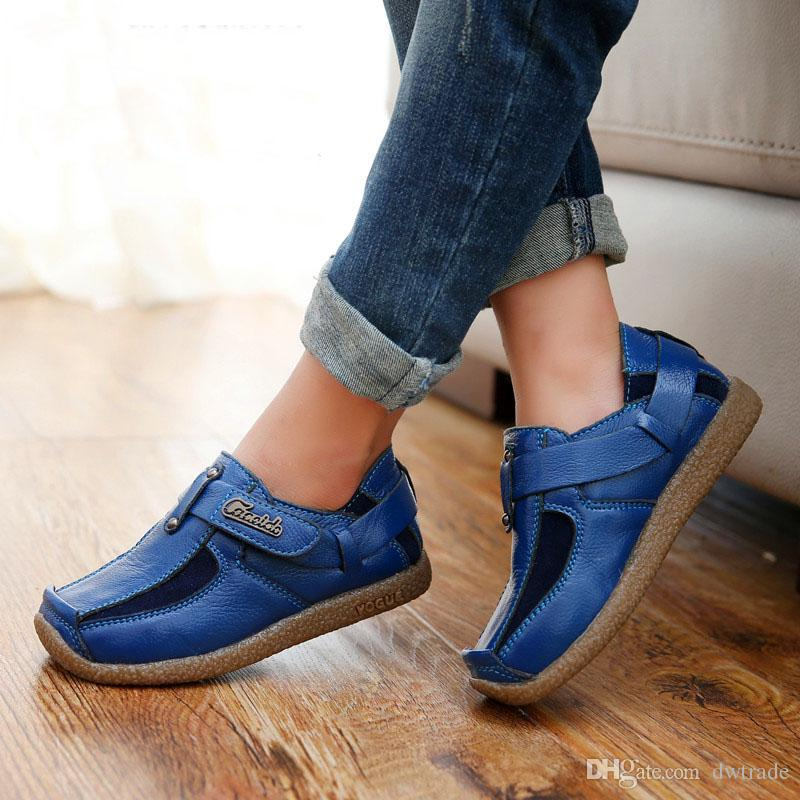 الأكثر مبيعًا عام 2017 مع أحذية جلدية Cas Kids الجلدية ذات الجودة العالية المريحة
