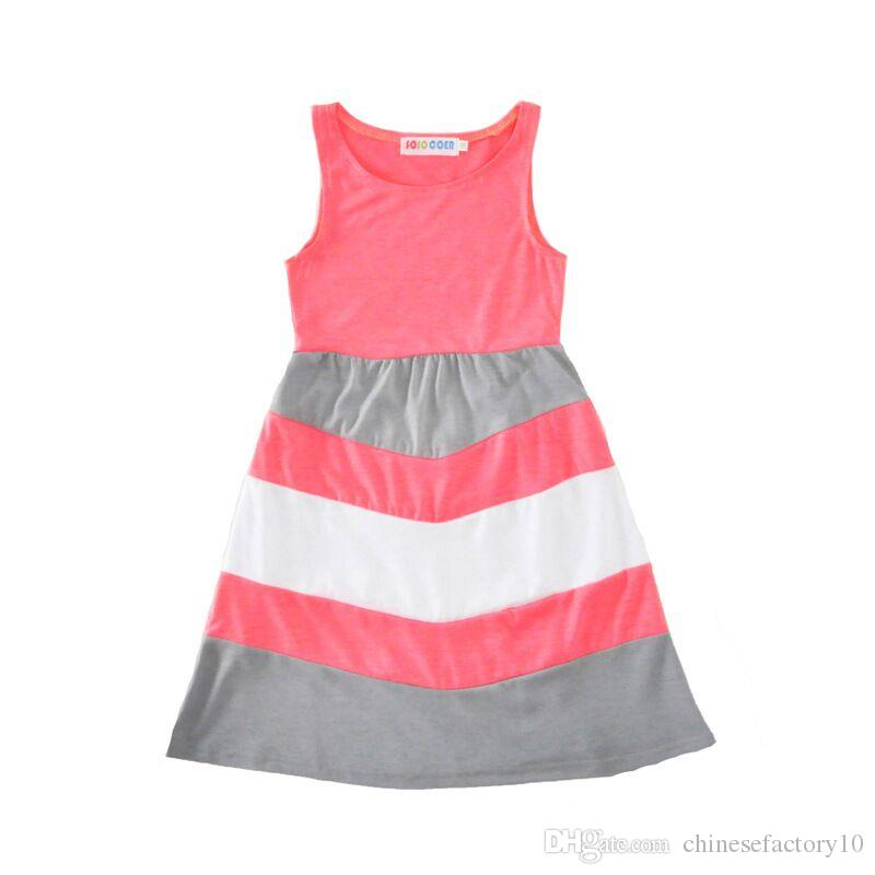 Mommy Daughter Matching Dress Mother and Daughter Stripe Maxi Dresses Summer Mom and Baby Sleeveless Long Dress