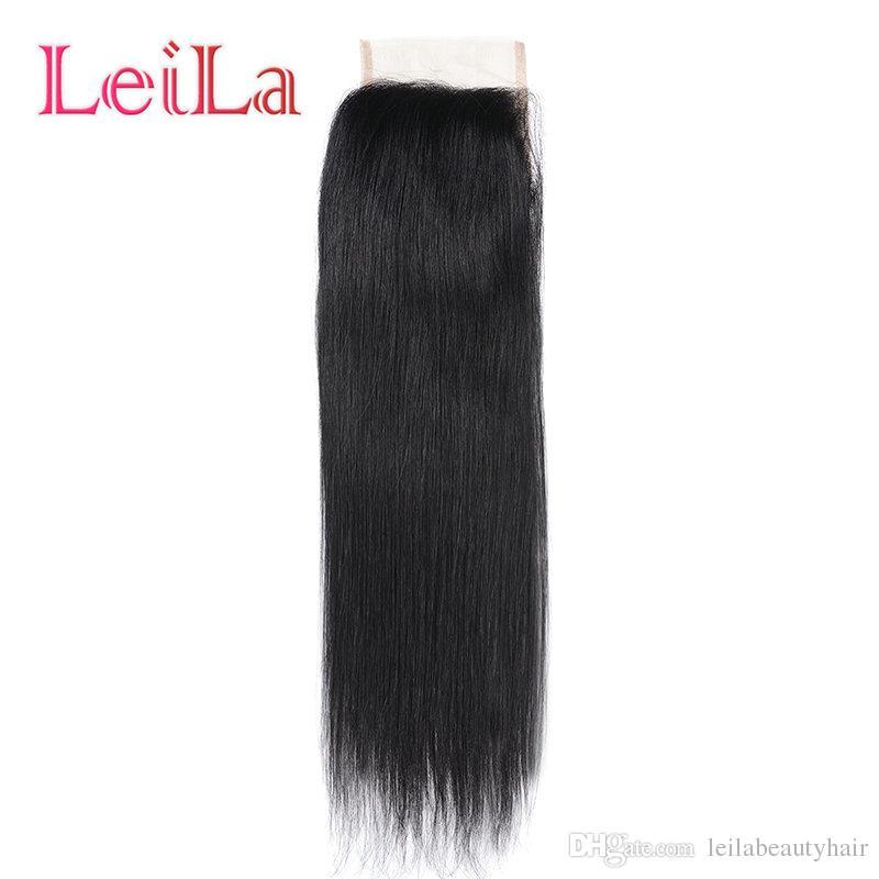 Peruanisches Jungfrau-Haar Glattes Haar Bündel mit Closure Los 3 Bundles mit 4X4 Freiem Verschluss 100% Echthaar Extentions webt