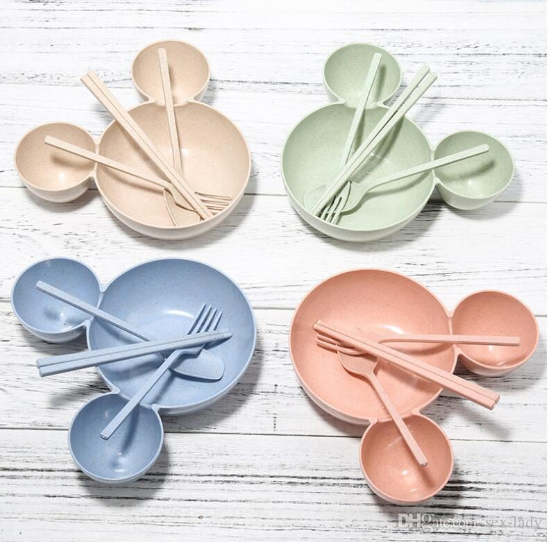 2017 Cartoon Children Kids Plastic Rice Bowl Lovely Eco Friendly Fruit  Plate Dishes Tableware Baby Lunch Bowl Babies Feeding Dishes Utensils Set  From Sex ...