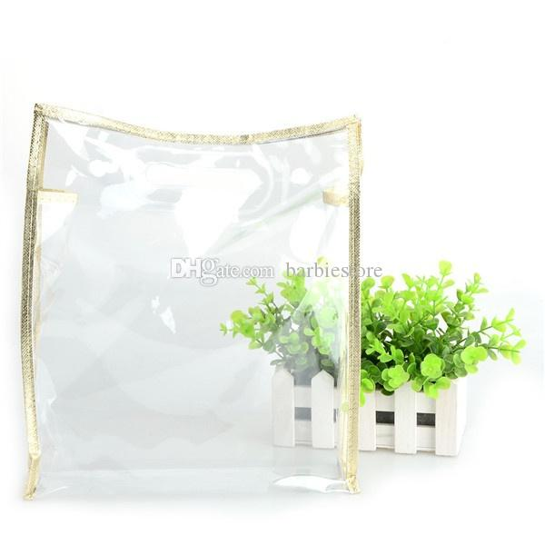 Women Clear Transparent PVC Travel Cosmetic Make Up Toiletry Package Bag Zipper C00961