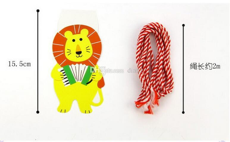 New Arrive /Pack 2M Happy Family Baby Shower Cartoon Animal Garland Striped Paper Flags Banner Decor Birthday Party Supplies For kids