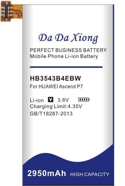 Da Da Xiong 2950mAh HB3543B4EBW Bateria para a Huawei Ascend P7 P7-L07 L09 L00 L10 L05 L11