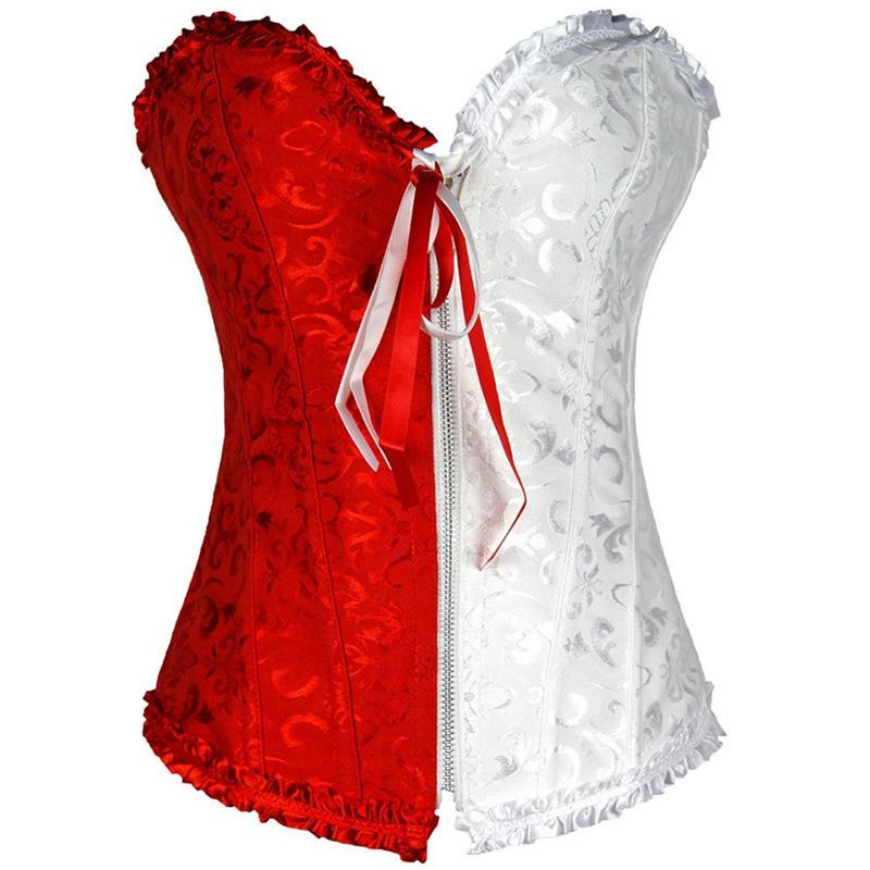 Wholesale Plus Size S-XXL Sexy Court Fashion Zipper Corsets and Bustiers Sexy Lingerie Hot For Women 592