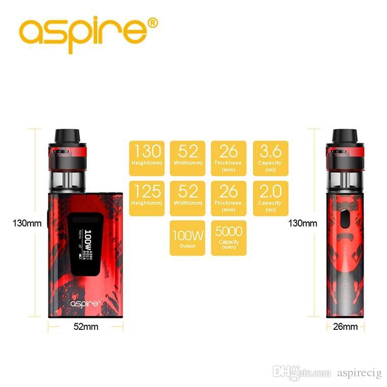 100% Original Aspire Typhon Revvo Kit with Revvo tank 3.6ml/2.0ml 100w Typhon TC mod 5000mAh built-in Li-Po battery 510 thread