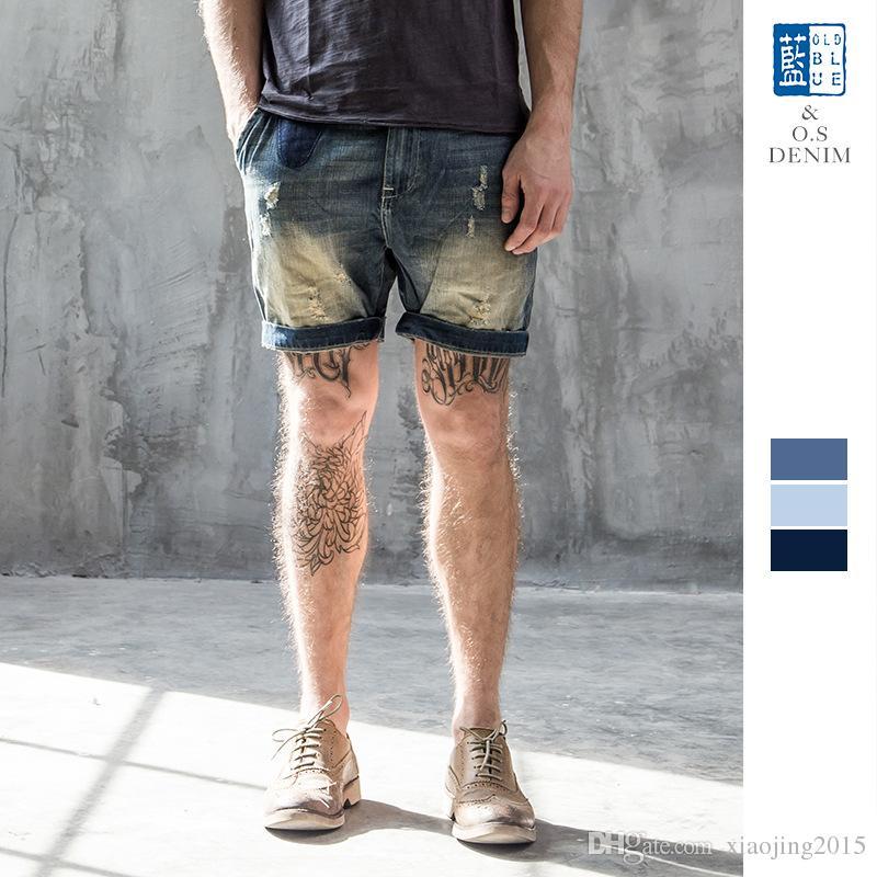 Célèbre 2018 New Arrival Mens Fashion Casual Cool Gym Jeans Shorts For Men  HU69