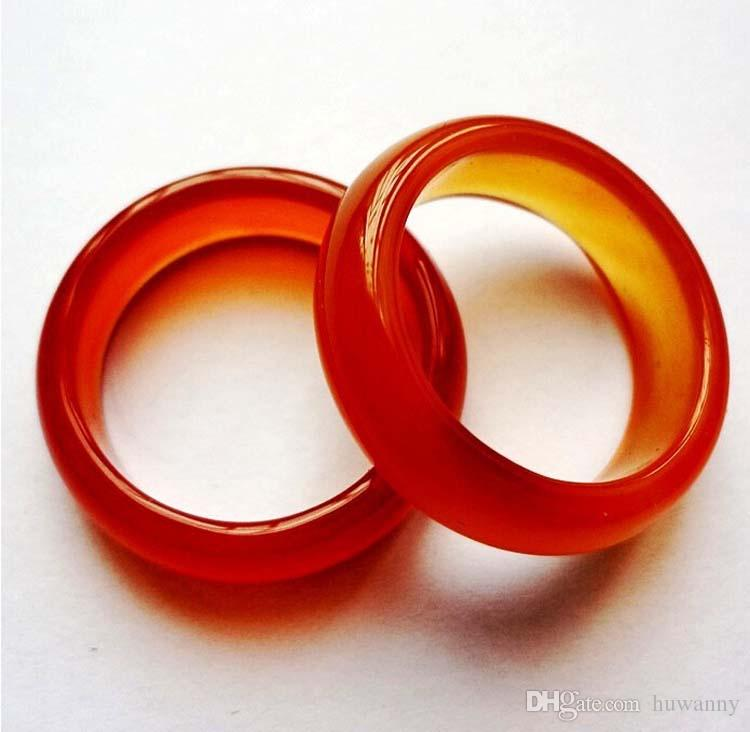 Jade Band Rings Hot Sale 5mm Agate finger ring for Women Men Fashion Jewelry Wholesale 00