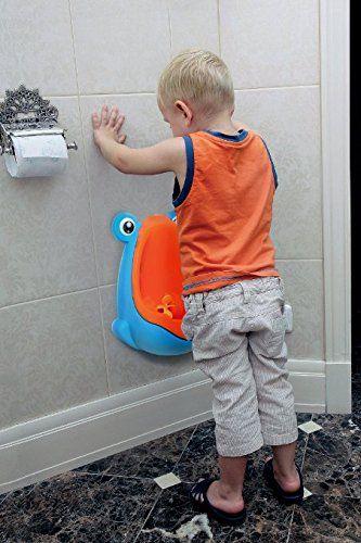 Grün-blaues Frosch-Baby-Toiletten-Trainings-Kindertöpfchen-Piss-Trainer-Urin für Jungen mit lustigem Ziel-Ziel-Bad DEC284