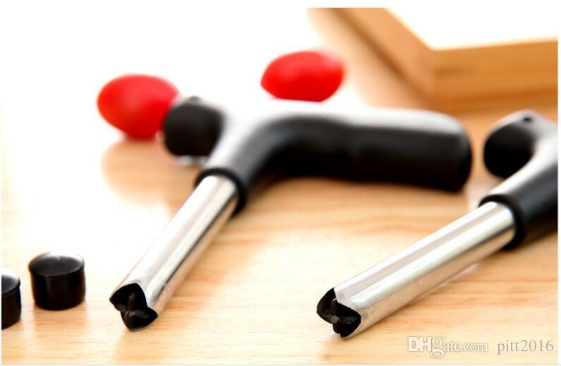 100 stücke Coconut Opener Tap Junge Bohrer Coco Wasser Cocoknife Thai Bohrloch Cut Messer Werkzeug Reinigungsstab Kostenloser Versand
