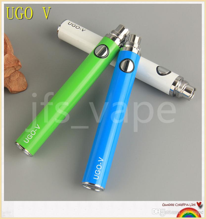 UGO-T UGO-V USB passthrough battery e cigarettes 650mah 900mah 1100mah for ecigs protank CE4 CE5 MT3 eGo Vaporizer Atomizer tanks vape pens