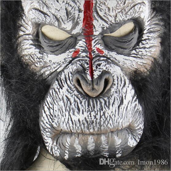 Rise of Planet of the Apes Halloween cosplay gorilla masquerade mask Monkey King Costumes caps realistic Festival Party masks