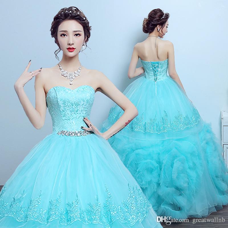 6b1b918d6018 cielo azul pedrería abalorios cintura nube con volantes vestido largo  vestido Medieval Vestido renacentista vestido real Vestido de Victoria