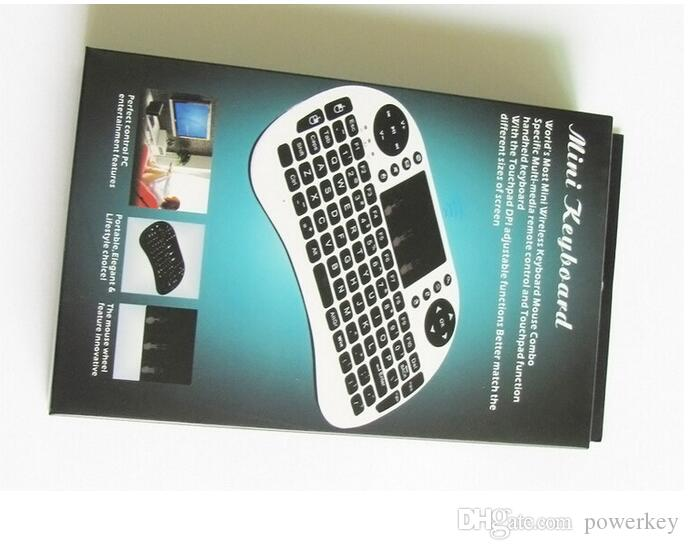 Rii Air Mouse Teclado inalámbrico de mano Mini I8 2.4GHz Touchpad Control remoto para MX CS918 MXIII M8 TV BOX Game Play Tablet PC Mini