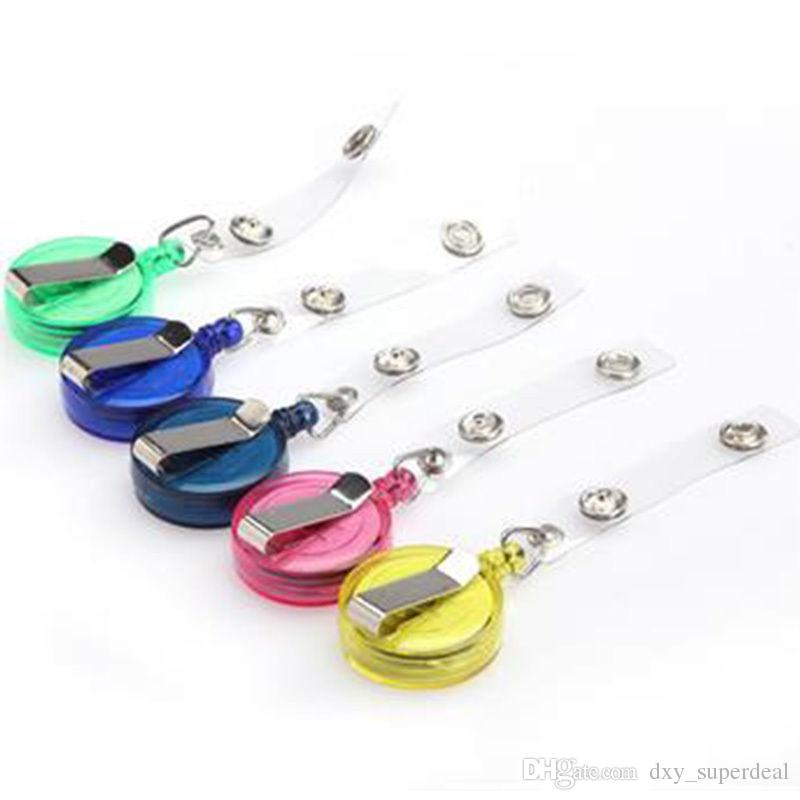 Retractable Lanyard Strap ID Card Badge Holder Reels with Clip Keep ID Key Cell phone Safe