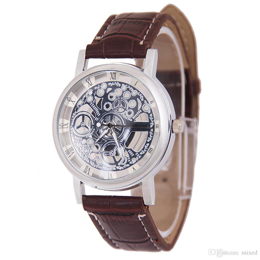Masculino кварцевые часы мода подарок мужчины механический механизм часы Pulseira Masculina