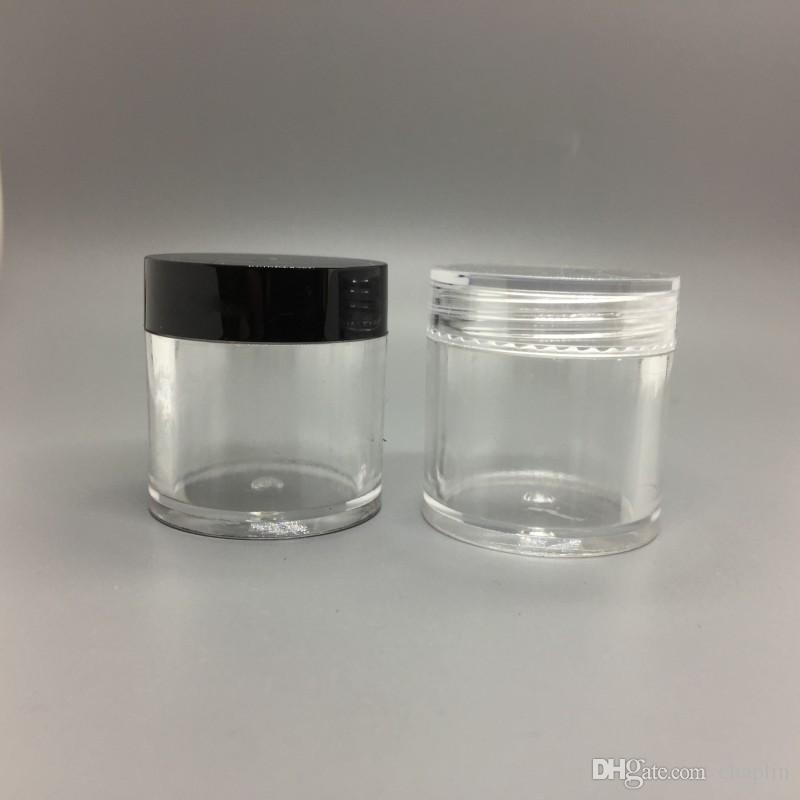 10G ML rundes Plastikcreme-leeres Glas-kosmetischer Behälter-Beispiel-Glas-Ausstellungs-Fall-kosmetische Verpackung 10ML Mini-Plastikflasche