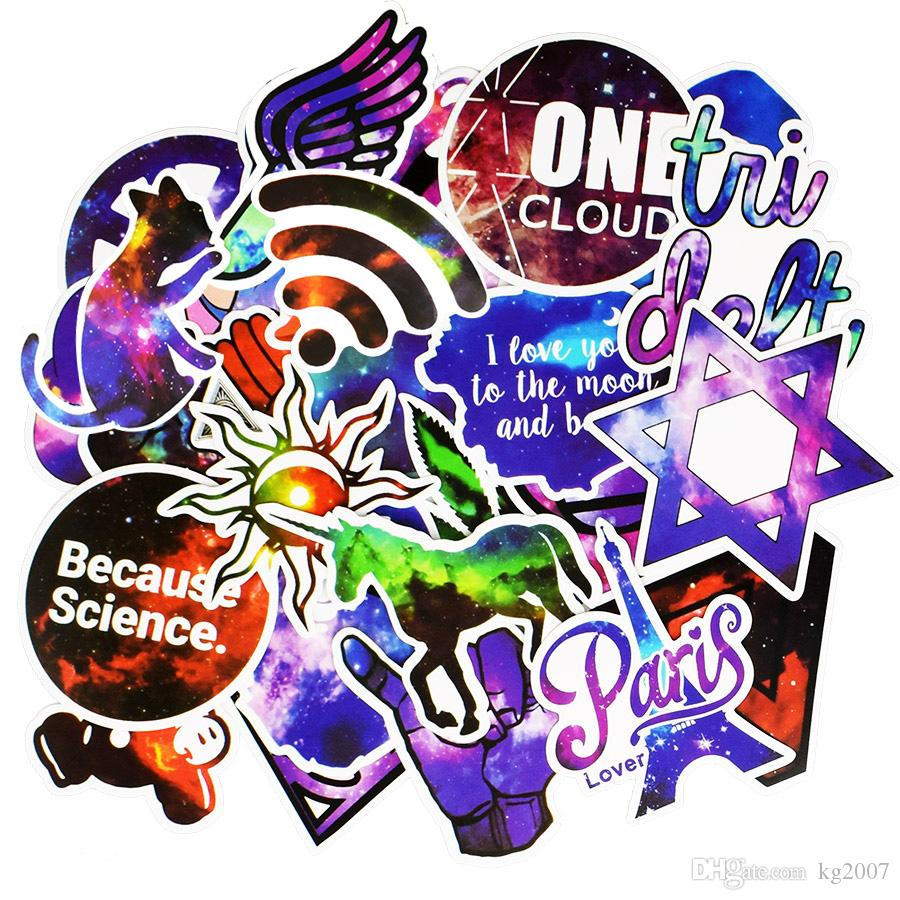 Galaxy JDM Stickers Poster Wall Blackboard Stickers for Room Guitar Laptop Skateboard Luggage Car Kids DIY Top Quality Stickers
