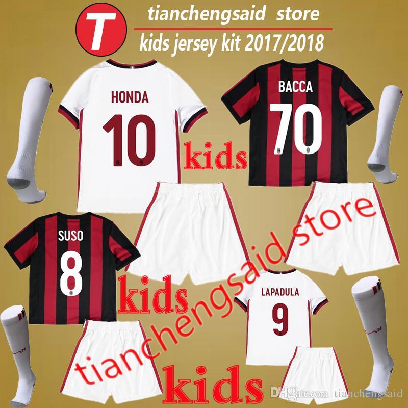 traje AC Milan niños