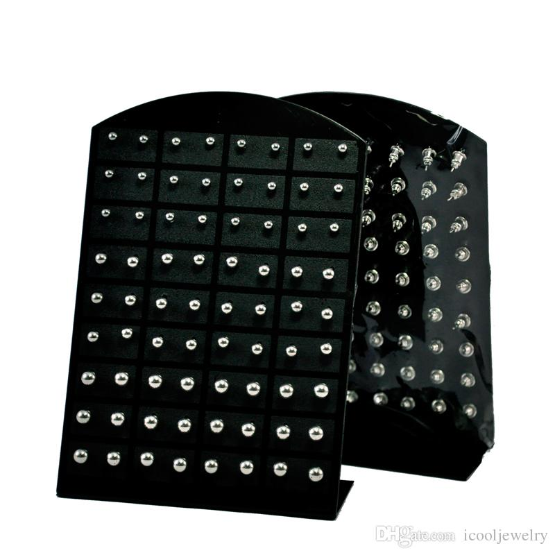 Wholesale Jewelry Nnice Retro rock iron ball Stainless Steel Ball Stud Earrings Bulk Comprising Display Boards LR282