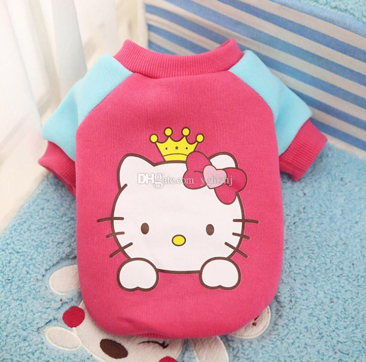 Wholesale new dog clothes, autumn and winter teddy poodle vest, cartoon puppies pet clothes,