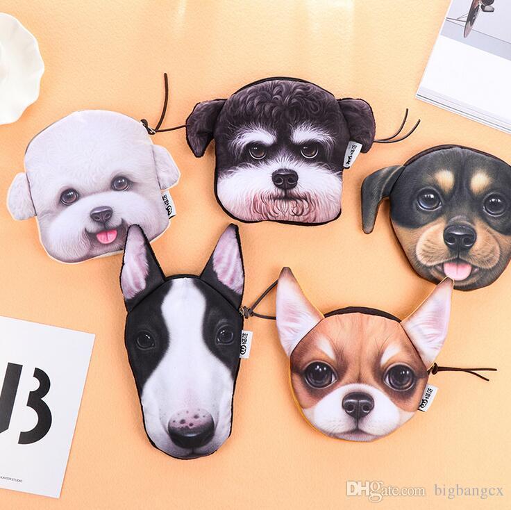 Geldbörsen & Brieftaschen Gepäck & Taschen Nette Plüsch Geldbörse Kawaii Cartoon 3d Tier Hund Schlüssel Mädchen Geldbörse