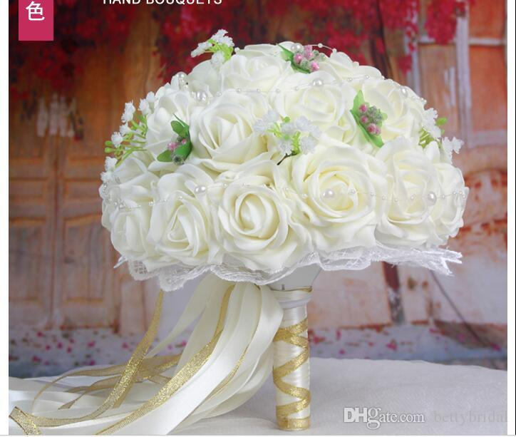 2017 Handmade Flowers Cheap Wedding Bouquets Bouquet De Mariage ...