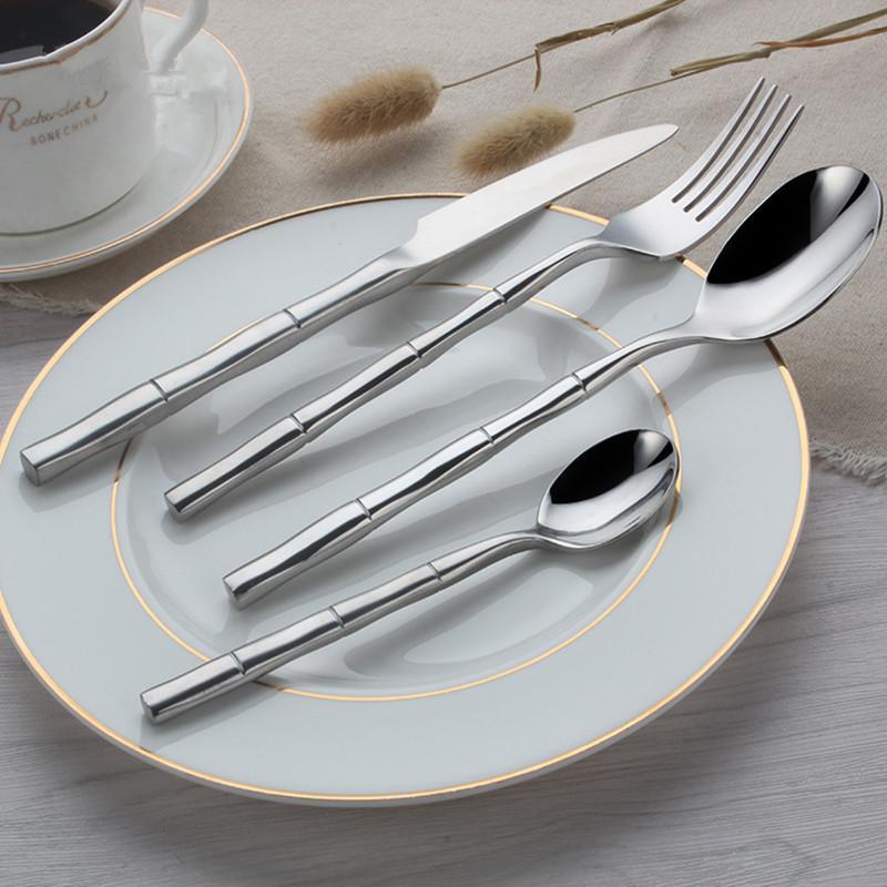 Bamboo Dinnerware Set Top Quality Stainless Steel Dinner Steak Knife Fork Spoon Teaspoon Party Cutlery Set Cutlery Set Flatware Set Knife Fork Online with ... & Bamboo Dinnerware Set Top Quality Stainless Steel Dinner Steak Knife ...