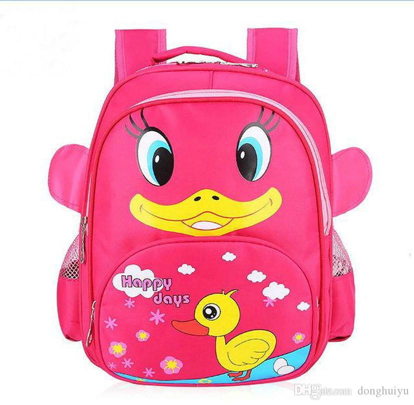 Free Shipp Lovely Cartoon Children Zoo Backpack School Bag BabyToy Gifts Bag  Kids Duck Design School Backpack Shoulder Bag Bags For Men Toddler Backpacks  ... 7a49ec0d87c20