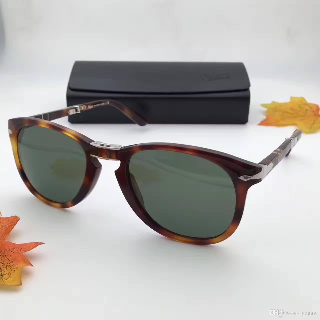 Compre Persol 714 Gafas De Sol Plegables Havana Green Lens Po0714 ...
