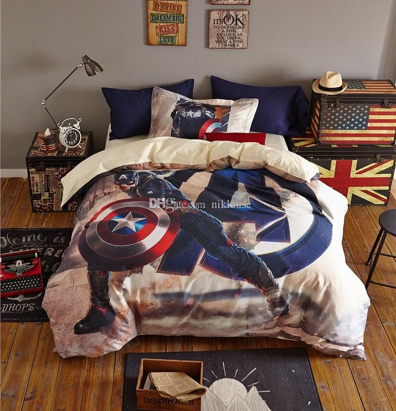 Top 2017 New In High Quality Marvel Hero Captain America Printed  SM35