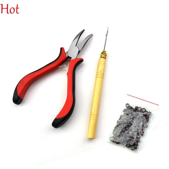 2018 Feather Hair Extension Pliers Tool Kit For Micro Beads Loop