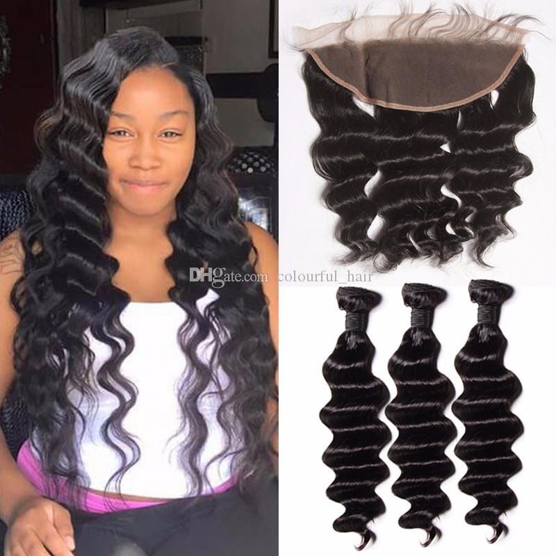 9a Unprocessed Brazilian Virgin Hair Loose Deep Wave Human Hair