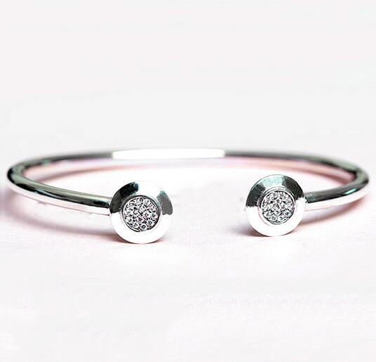 2018 Authentic 925 Sterling Silver Bangle Pan Signature
