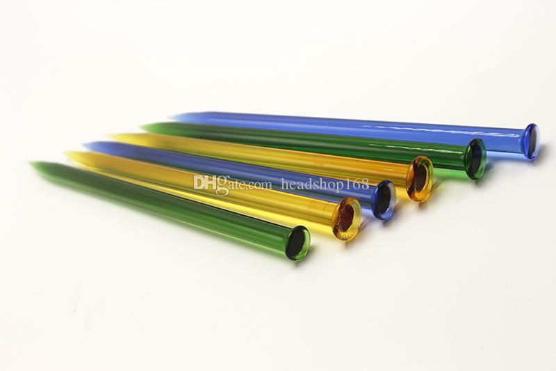 Dabs matita di vetro colorato design strumento Dabs strumento Bong Favo di accessori in vetro a nido d'ape bong Oil Rig
