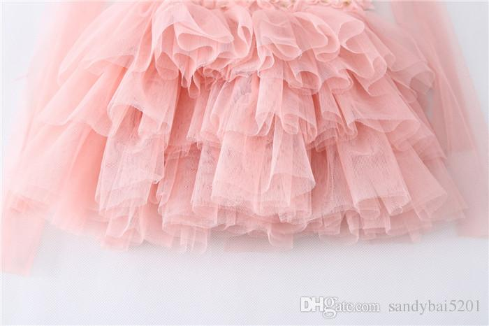 Kids Girls Lace Dresses Baby Girl Floral Vest Dress Boutique 2017 Infant Princess Bohemian Dress for Party Children Clothing Wholesale B104