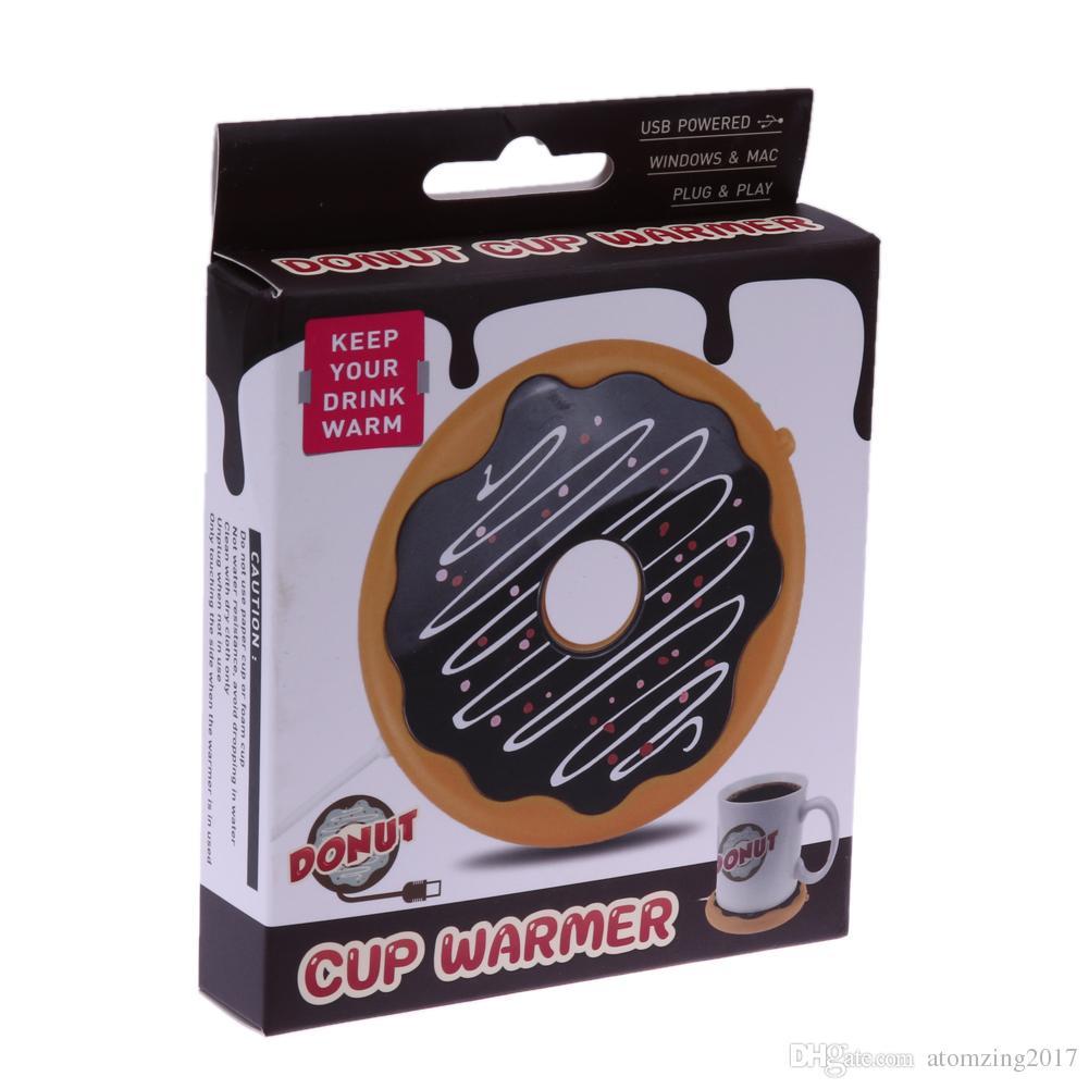 Kreative Silikon Donut Elektrische Isolationsachterbahn USB Tassenwärmer Teewärmer Büro Tee Kaffee Getränke USB angetriebene Heizmatte