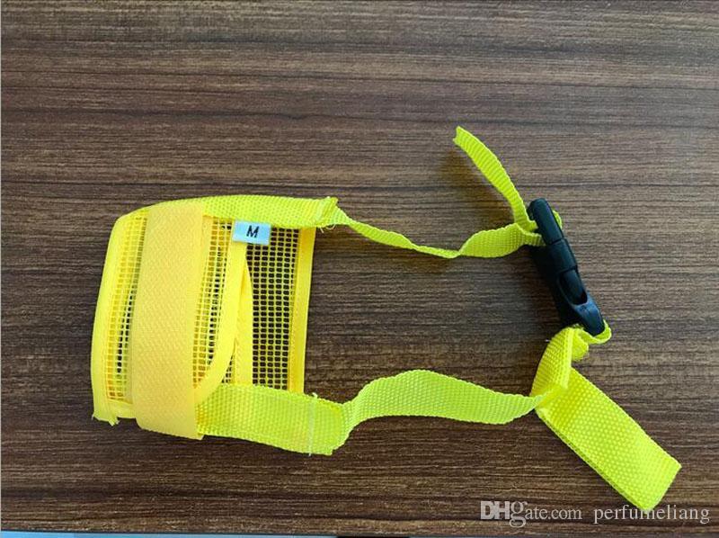 Pet Dog Adjustable Mask Bark Bite Mesh Nylon Safety Mouth Muzzle Grooming Anti Stop Chewing ZA3953