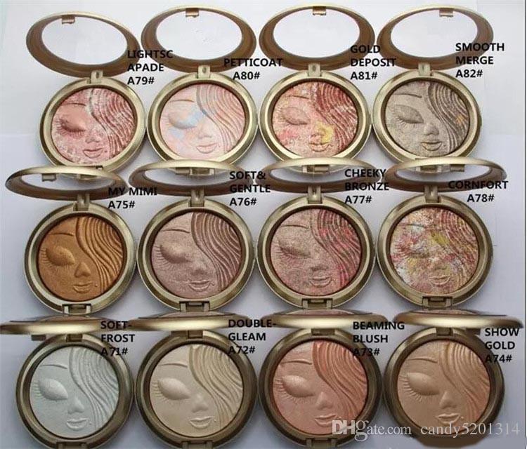 공장 직접 DHL 무료 배송 신규 메이크업 페이스 파우더 Bronzer Extra Dimension Skinfinish Face Powder! 12 가지 색상 A08