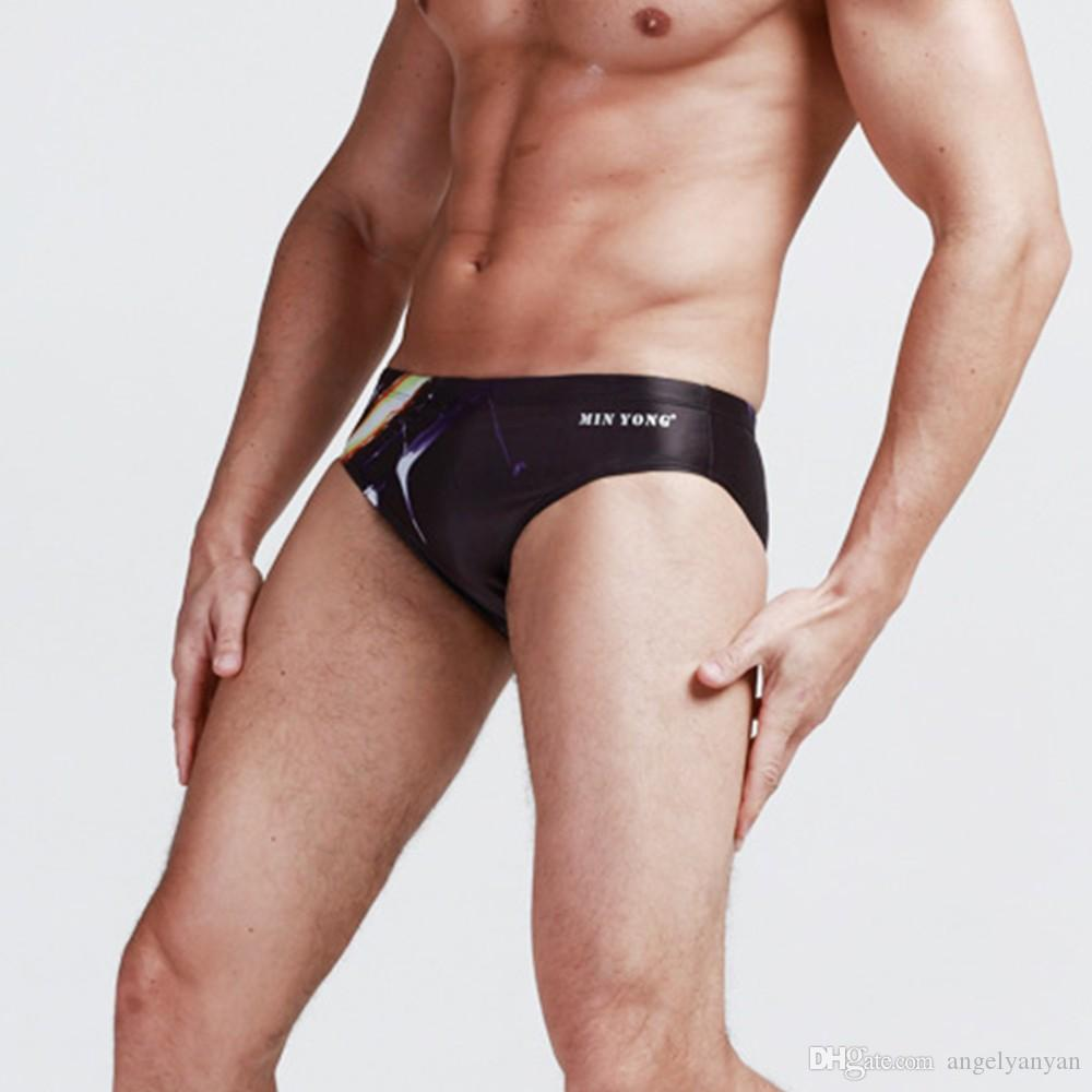 Sexy Men Professional Swimwear Swimsuits Briefs Low Waist Mens Swim Trunks Classic Swim Briefs Men Swimwear Bathing Wear