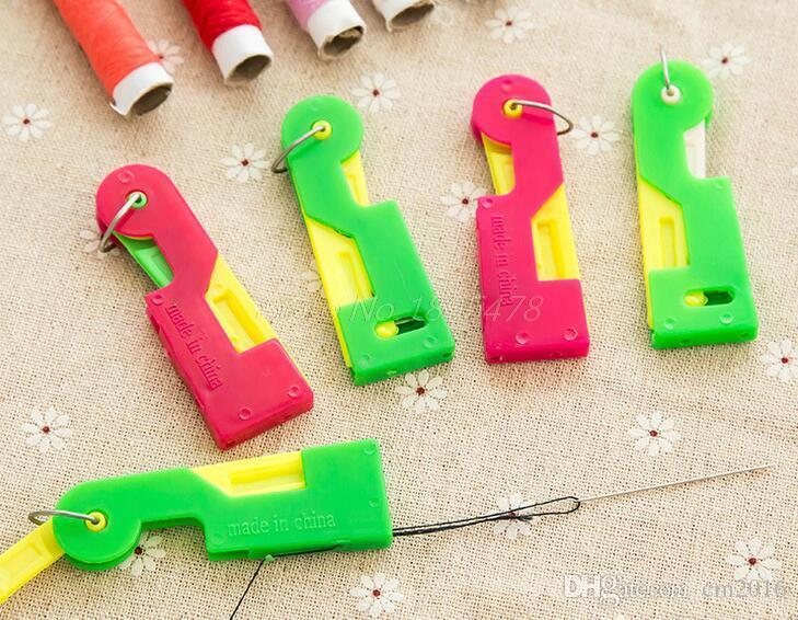 Elderly Use Automatic Easy Sewing Needle Device Threader Thread Guide Tool
