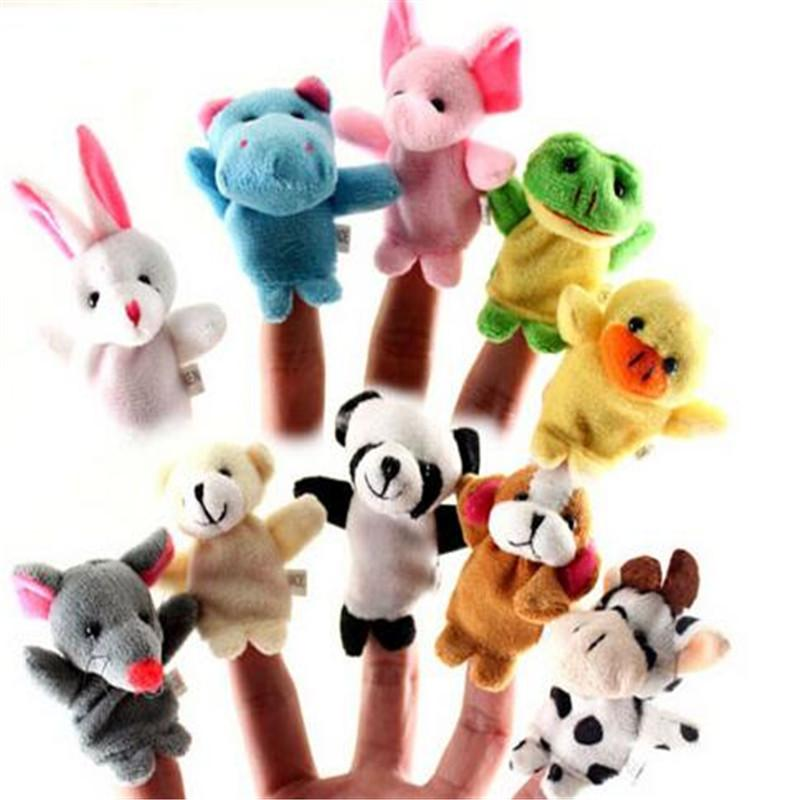 Baby Hand Puppet Baby Plush Toy Finger Puppets Talking Props 10 style Animal Group Stuffed Animals Toys Gifts DHL Free