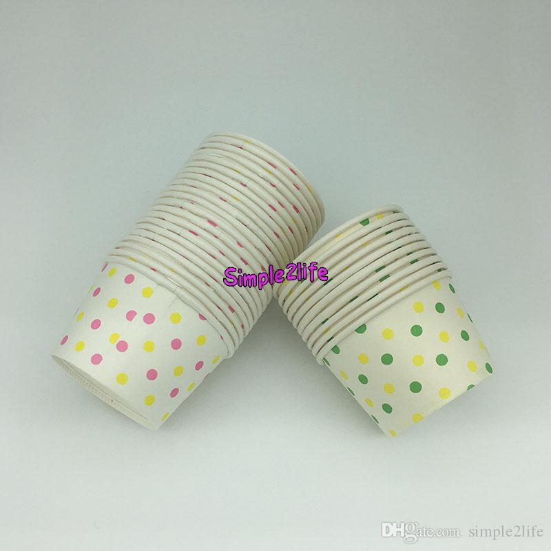50pcs Polka Mixed Dot Round paper cupcake case ice cream cups NO Lid byb Greaseproof Dessert Baking Cups