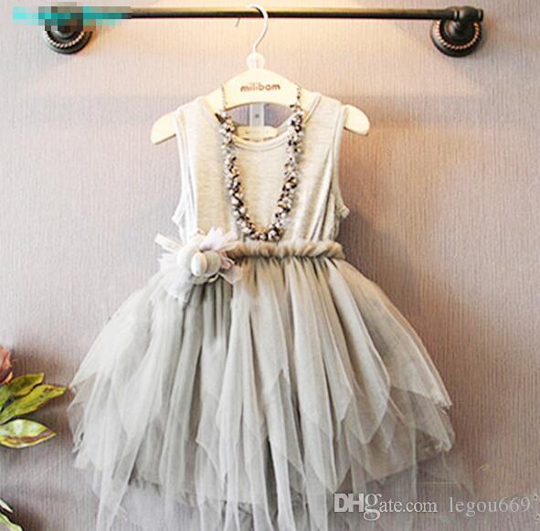 Bebê verão Da Menina Da Criança Rendas Vestido De Roupas Para Floral Infantil Vestido de Princesa Crianças Vestidos de roupas Crianças G148