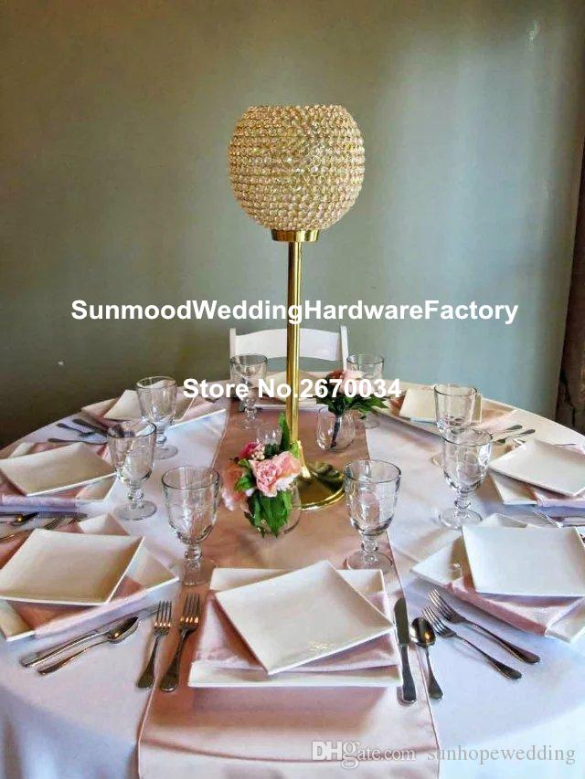 Gold Crystal Candelabra Centerpieces Wedding Candelabra For Table
