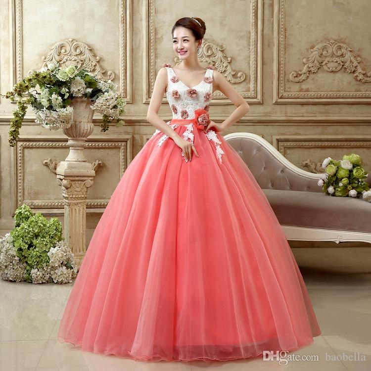 Großhandel Quinceanera Kleider Späteste Design Pink Quinceanera ...