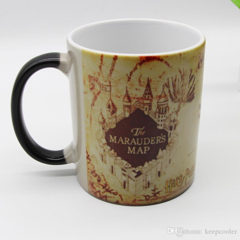 a0f9b6aa84a New Design Old Potter Marauder Map Color Changing Coffee Mugs Magic Heat  Sensitive Tea Cup Mug Mischief Managed Unique Coffee Mugs Unique Coffee Mugs  For ...