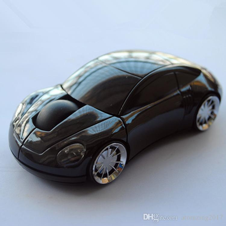 Acessórios de computador 2.4 GHz 1600 DPI 3D Mouse Óptico Sem Fio Ratos Car Forma Receptor USB Para PC Portátil