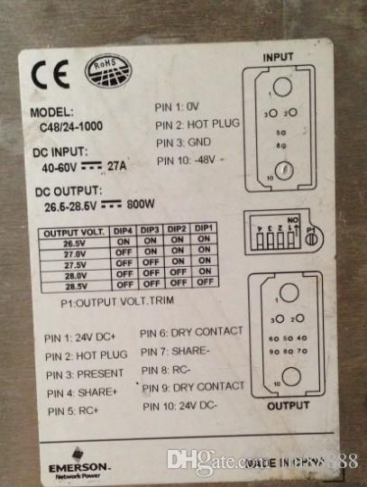 Hochwertige Server-Stromversorgung für Emerson C48-24-1000 / M500S / UF-BCH72-5 / M522S / IDU20-60v25w / GERM4815TEM / R4850N2
