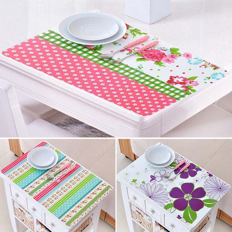 online cheap wholesale 28 43cm korea floral square placemats dining tables place mats pad. Black Bedroom Furniture Sets. Home Design Ideas